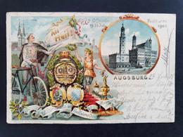 Officielle Festpostkarte 1901 - Augsburg