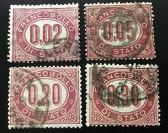 1875 - REGNO - FRANCOBOLLI DI SERVIZIO - SERIETTA BASSI VALORI - US. - SIGNED - SPL - EURO 30,00 - 1861-78 Vittorio Emanuele II