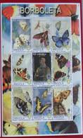 2000 Angola Fauna Insectos Mariposas Scout Block De 9v Mint - Papillons