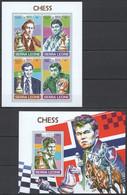 UU425 2017 SIERRA LEONE SPORT CHESS WORLD CHAMPIONS CARLSEN KRAMNIK KB+BL MNH - Chess