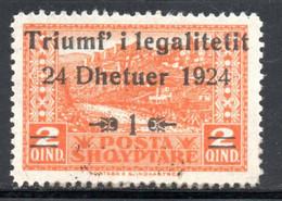 ALBANIE - NEUF * - YT 144 - COTE 5.50 € - Albanie