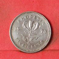 RHODESIA 5 CENTS 1973 -    KM# 12 - (Nº38511) - Rhodesien