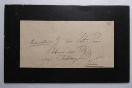Lettre PERE CENT - Chantonnay 1910 - Documents