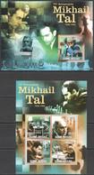 K692 2011 GUINE GUINEA-BISSAU SPORT CHESS 75TH ANNIVERSARY MIKHAIL TAL BL+KB MNH - Chess