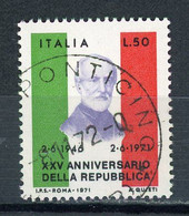 ITALIE : 25 ANS DE LA REPUBLIQUE N° Yvert 1074 Obli. - 1961-70: Oblitérés