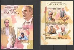 VV575 2013 CENTRAL AFRICA CENTRAFRICAINE SPORT CHESS WORLD CHAMPION GARRY KASPAROV KB+BL MNH - Chess