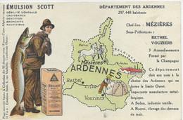 08 MEZIERES CHARLEVILLE  RETHEL VOUZIERS SEDAN ROCROI Ardennes Carte Publicitaire Scott CPA Non écrite - Charleville