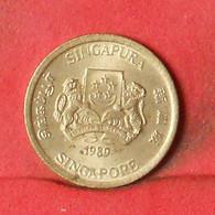 SINGAPORE 5 CENTS 1989 -    KM# 50 - (Nº38547) - Singapore
