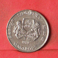 SINGAPORE 20 CENTS 1989 -    KM# 52 - (Nº38554) - Singapore