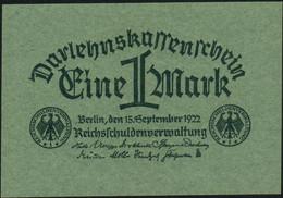 ♛ GERMANY - 1 Mark 15.09.1922 UNC P.61 A - Amministrazione Del Debito