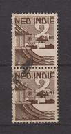 Nederlands Indie 318 Pair Used ; Verschillende Voorstellingen 1946 Netherlands Indies PER PIECE - Nederlands-Indië