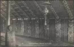 Interior Of Maori House, New Zealand, C.1910s - FG Radcliffe RP Postcard - Nieuw-Zeeland