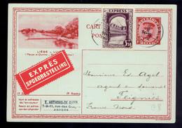 EXPRESS 292 F / CP 14 ( Image 18 ) Exprès Antwerpen 9 II 1932 => Feignies ( Nord De La France ) - Postales [1909-34]