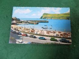VINTAGE UK ISLE OF MAN: PORT ERIN Beach Panorama Colour Cars Bamforth - Isle Of Man