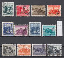 107K20 / Bulgaria 1941 Michel Nr. 1-12 Used ( O ) Parcel Post Stamps Paketmarken , Train Truck Motorbikes Scales Balance - 1909-45 Kingdom