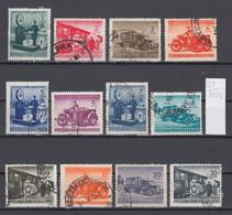 107K21 / Bulgaria 1941 Michel Nr. 1-12 Used ( O ) Parcel Post Stamps Paketmarken , Train Truck Motorbikes Scales Balance - 1909-45 Kingdom