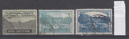 107K24 / Bulgaria 1925 Michel Nr. 1-3 Used ( O ) Zwangszuschlagsmarken  Postal Tax Stamps Fund Sanatorium Bulgarie - 1909-45 Kingdom