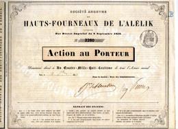 Sociètè Anonyme Des HAUTS - FOURNEAUX De L'ALELIK - Non Classés