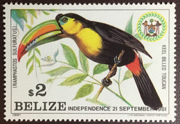Belize 1981 Independence Toucan Birds From Set MNH - Sin Clasificación