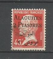 Timbre De Colonie Française Alaouites Oblitéré  N 19 - Usati
