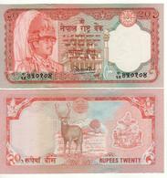 NEPAL  20 Rupees     P32   (ND 1982-1987    King Birendra- Sambar Deer )   UNC - Nepal