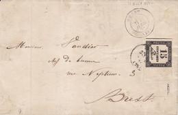 LSC Locale De Brest Taxe 15 Centimes Noir Grand Bord De Feuille  12 04 1871 - 1849-1876: Classic Period