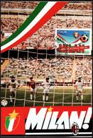 1994 Italia, Cartolina Maximum Milan Campione, Annullo Speciale, Serie Completa - 6. 1946-.. Republic