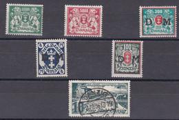 Lot De 5 Timbres Neuf De Danzig + Un Oblitéré 02.10.1936 - Zonder Classificatie