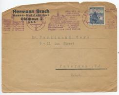 Czechoslovakia 1936 Cover Olomouc To Paterson NJ, Scott 221 Strecno Castle Ruins - Czechoslovakia