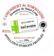 ETIQUETTE FROMAGE  CAMEMBERT  -  BEILLEVAIRE -  Affineur -  NORMANDIE - AOP - 14 - Käse
