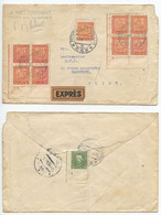 Czechoslovakia 1934 Exprès Cover Petrovice U Rakovníka To Plzeň, Scott 154 158 194 - Czechoslovakia