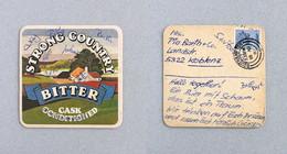 Sous-bock Bière Brasserie Whitbread Strong Country Timbre Poste 1980 Beermat Coaster Bierdeckel - Non Classificati