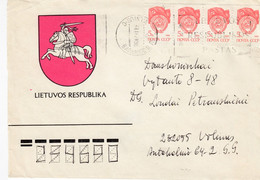 LITHUANIA Coat Of Arms Cover From Vilnius To Druskininkai 1991 #25722 - Lituania