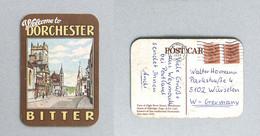 Sous-bock Bière Brasserie Dorchester Timbre Poste 1986 Beer Mat Coaster Bierdeckel - Non Classificati