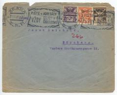 Czechoslovakia 1921 Cover Prague To Nürnberg Germany, Scott 82 84 88, Slogan Cancel - Czechoslovakia
