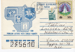 LITHUANIA Stamps Cover From Vilnius To Telsiai 1990 #25736 - Lituania