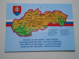 D175124  Map Carte Karte  Slovakia - Landkaarten