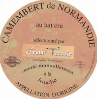 ETIQUETTE FROMAGE  CAMEMBERT  - FROM ' TERROIR -   NORMANDIE -  FR 50.267.01 - Käse