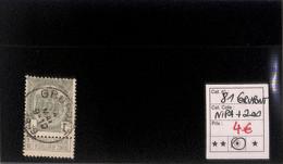 NB - [820057]TB//O/Used-Belgique 1907 - N° 81, Grupont, Nipa+200, Armoiries - 1893-1907 Wappen