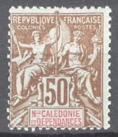 Nuova Caledonia 1900 Y.T.63 */MH VF/ F - Unused Stamps