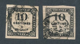 DT-224: FRANCE: Lot Avec Taxe N°2-2A Obl - 1859-1955 Usati