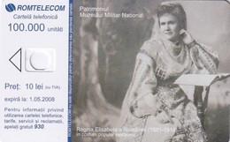 ROMANIA - Regina Elisabeta A Romaniei(1881-1916), Exp.date 01/05/08, Dummy Telecard(no Chip, No CN) - Rumänien