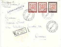 RACCOMANDATA ANNULLO TORINO SEZ RIUNITE - 1946-60: Marcophilie