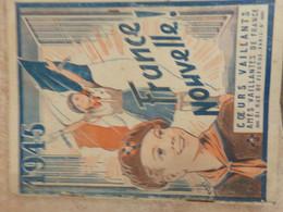 Tintin Cœurs Vaillants 1945  France Nouvelle Libération Paris Illustrations Tintin Et Milou Non Autorisées Par Hergé EO - Tintin
