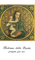 Santino/holycard: MADONNA DELLA PURITA' - Roma  - M - PR - Mm. 65 X 110 - Religion &  Esoterik