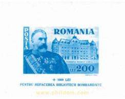 Ref. 116624 * MNH * - ROMANIA. 1945. PRO RECONSTRUCTION OF THE NATIONAL LIBRARY . PRO RECONSTRUCCION DE LA BIBLIOTECA N - 1918-1948 Ferdinand, Charles II & Michael