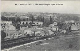16  Angouleme     Vue Panoramique  Ligne De L'etat - Angouleme