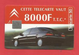 TELECARTE 50 U TIRAGE 3000 000 EX. Citroën Félix Faure  ---- X 2 Scan - Cars