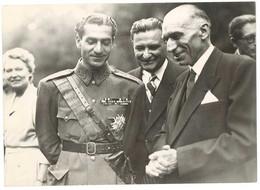 Photo (13x18 Cms) De Presse : L'Empereur D'Iran à Paris ( Mohamed Reza Pahlavi , André Marie Président Du Conseil ) - Identified Persons