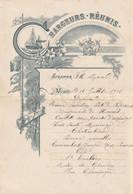 Chargeurs Reunis  Menu Ville Maccio 14 Juillet 1902  ..23.5 X 16 Cm - Menus